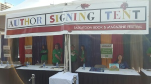 Signing autographs at the Author Signing Tent